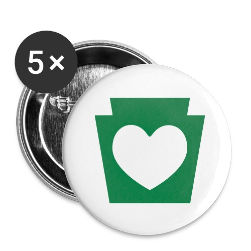 Love/Heart PA Keystone - Buttons large 2.2'' (5-pack)
