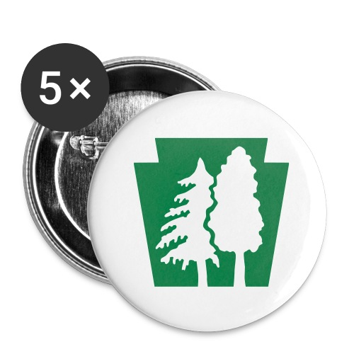PA Keystone w/trees - Buttons large 2.2'' (5-pack)