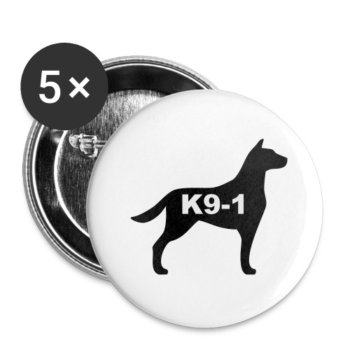 k9-1 Logo Large - Buttons large 2.2'' (5-pack)