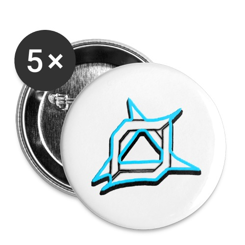 Oma Alliance Blue - Buttons large 2.2'' (5-pack)