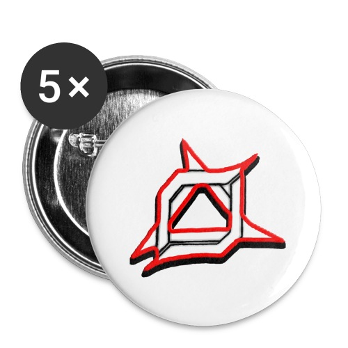 Oma Alliance Red - Buttons large 2.2'' (5-pack)