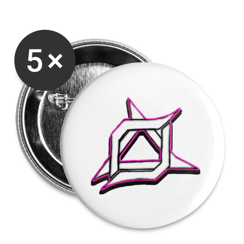 Oma Alliance Pink - Buttons large 2.2'' (5-pack)