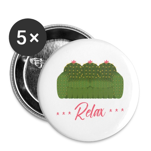 Relax! - Buttons large 2.2'' (5-pack)