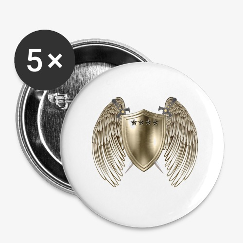 GOLD SHIELD-21 - Buttons large 2.2'' (5-pack)