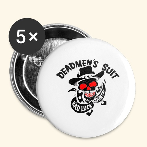 Deadmen's Suit Bad Luck#Skull - Buttons large 2.2'' (5-pack)