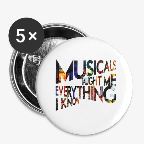 MTMEIK Broadway - Buttons large 2.2'' (5-pack)
