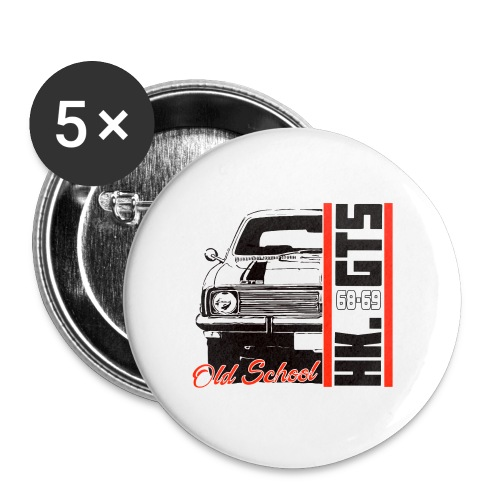 HK 1/2 OLDSCHOOLTSHIRTS - Buttons large 2.2'' (5-pack)