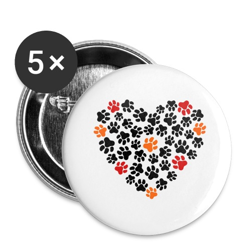 Animal Love - Buttons large 2.2'' (5-pack)