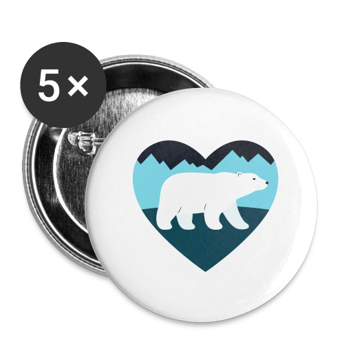 Polar Bear Love - Buttons large 2.2'' (5-pack)