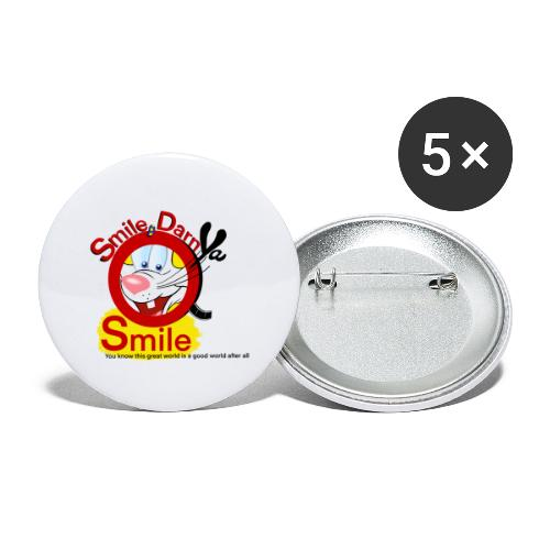 Smile Darn Ya Smile - Buttons large 2.2'' (5-pack)