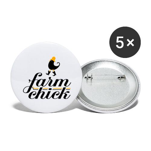 Farm chick - Buttons large 2.2'' (5-pack)