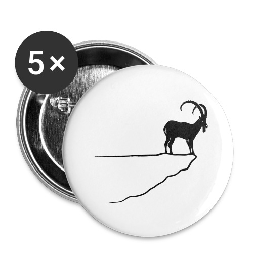 ibex capricorn mountain goat sheep rock climbing - Buttons large 2.2'' (5-pack)