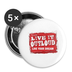 Live It OutLoud Logo - Large Buttons