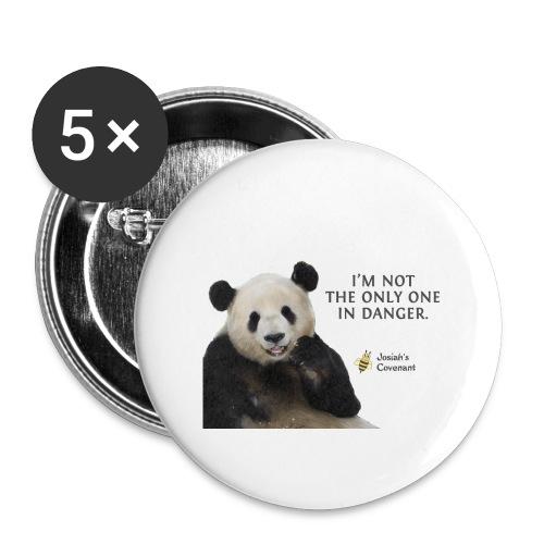 Endangered Pandas - Josiah's Covenant - Buttons large 2.2'' (5-pack)