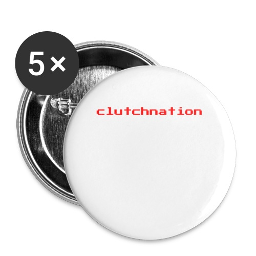 clutchnation merch red video game - Buttons large 2.2'' (5-pack)