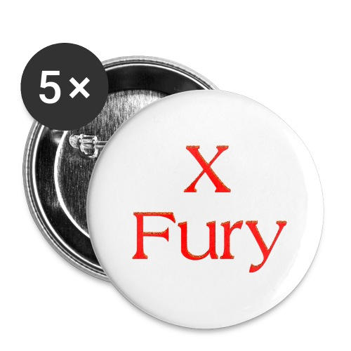 X Fury - Buttons large 2.2'' (5-pack)