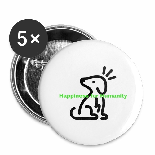 Happiness for Humanity - Buttons large 2.2'' (5-pack)