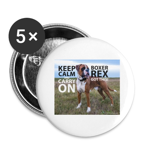 Keep calm and carry on - Buttons large 2.2'' (5-pack)