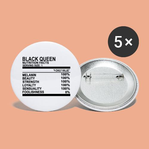 Black Queen Nutrition Facts - Buttons large 2.2'' (5-pack)