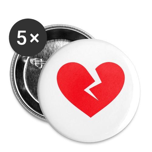 Broken Heart - Buttons large 2.2'' (5-pack)