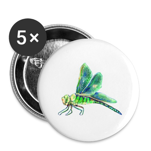 green dragonfly - Buttons large 2.2'' (5-pack)