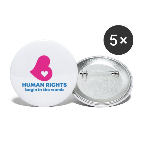 HUMAN RIGHTS - Buttons large 2.2'' (5-pack)