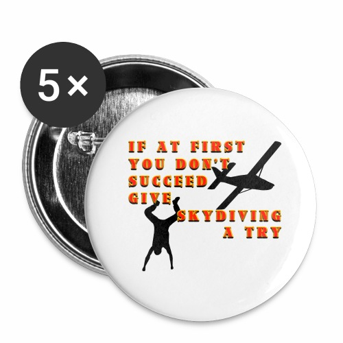 Try Skydiving - Buttons large 2.2'' (5-pack)