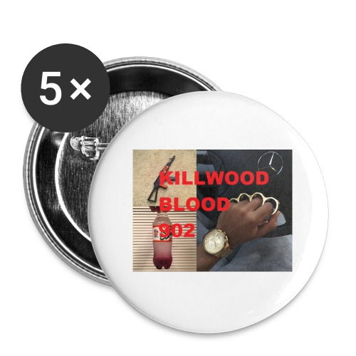 Killwood Blood 902 - Buttons large 2.2'' (5-pack)