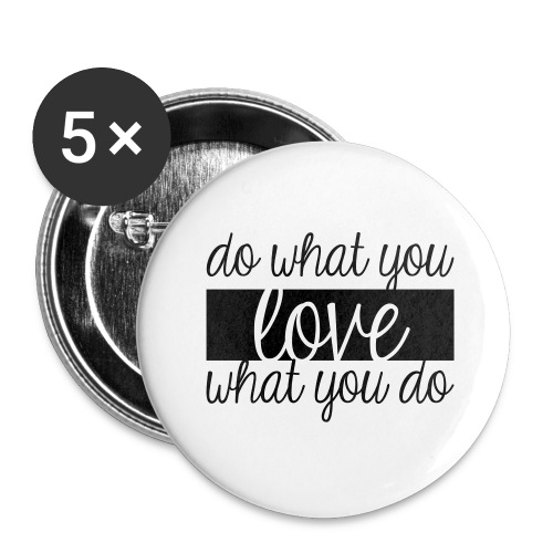 Love sense - Buttons large 2.2'' (5-pack)