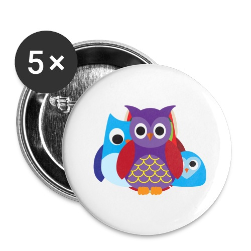 Cute Owls Eyes - Buttons large 2.2'' (5-pack)