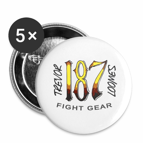 Coloured Trevor Loomes 187 Fight Gear Logo - Buttons large 2.2'' (5-pack)