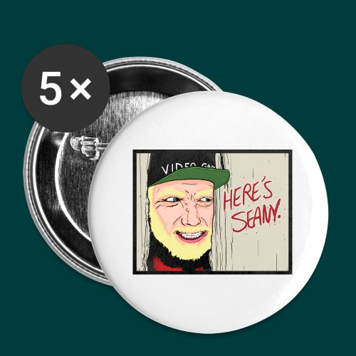 Here's Seany - Buttons large 2.2'' (5-pack)