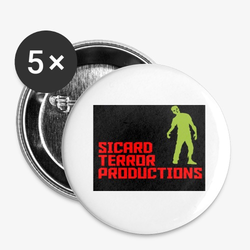 Sicard Terror Productions Merchandise - Buttons large 2.2'' (5-pack)