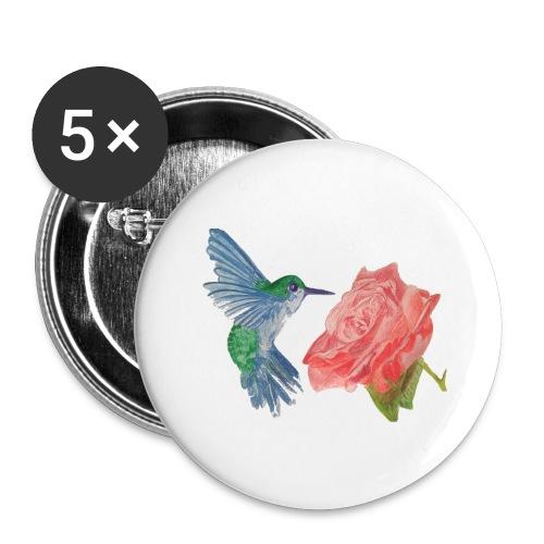 Hummingbird - Buttons large 2.2'' (5-pack)
