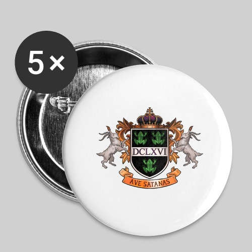 Satanic Heraldry - Coat of Arms - Buttons large 2.2'' (5-pack)