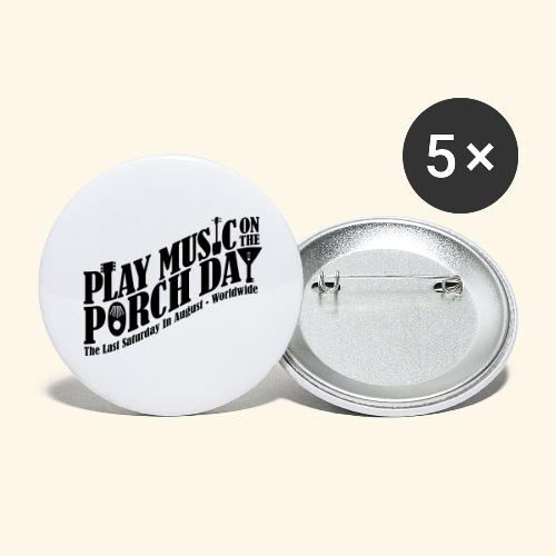 Play Music on the Porch Day - Buttons large 2.2'' (5-pack)
