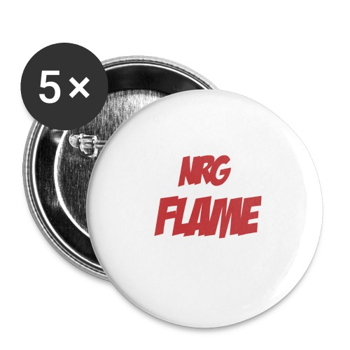 FLAME - Buttons large 2.2'' (5-pack)