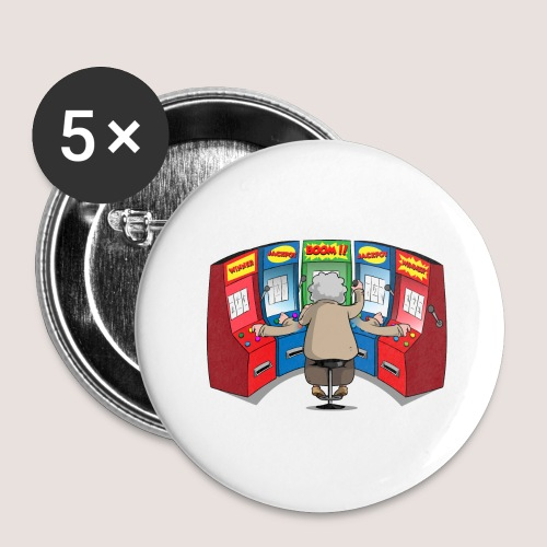 THE GAMBLIN' GRANNY - Buttons large 2.2'' (5-pack)