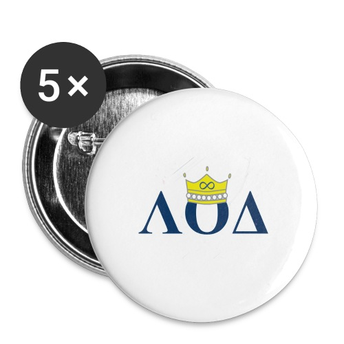 Crown Letters - Buttons large 2.2'' (5-pack)
