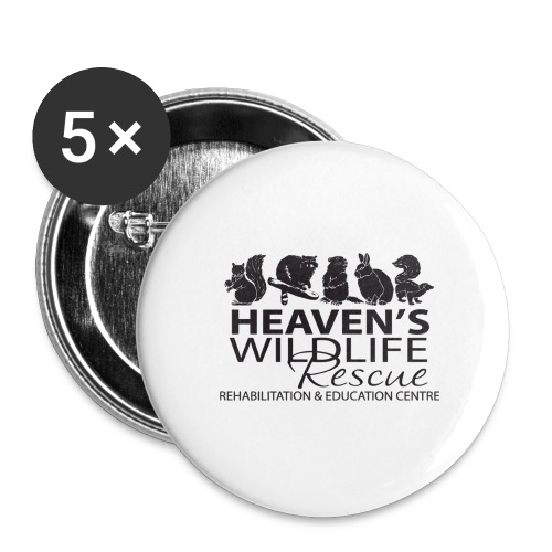 Heaven's Wildlife Rescue - Buttons large 2.2'' (5-pack)