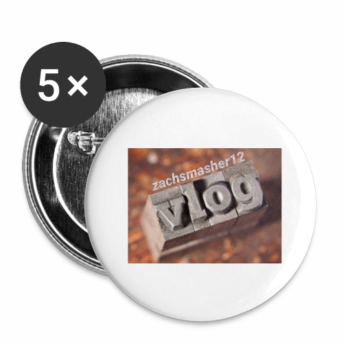 Vlog - Buttons large 2.2'' (5-pack)