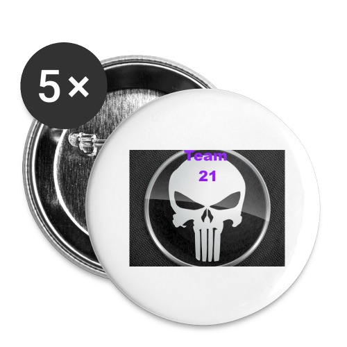 Team 21 white - Buttons large 2.2'' (5-pack)
