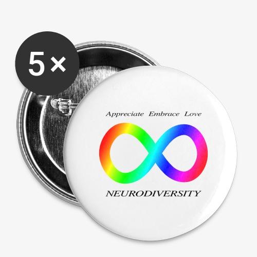 Embrace Neurodiversity - Buttons large 2.2'' (5-pack)