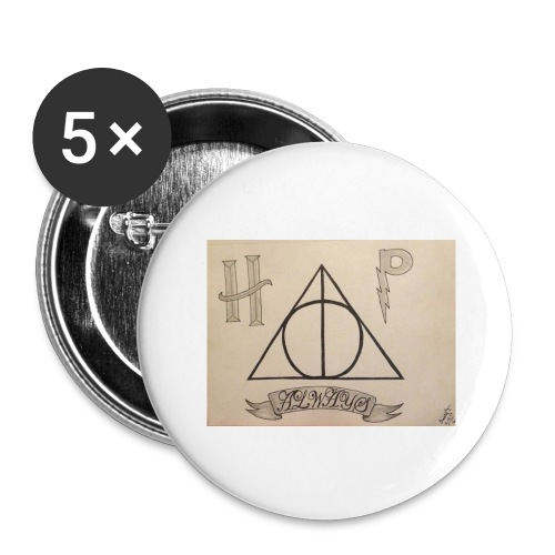 Deathly Hallows - Buttons large 2.2'' (5-pack)