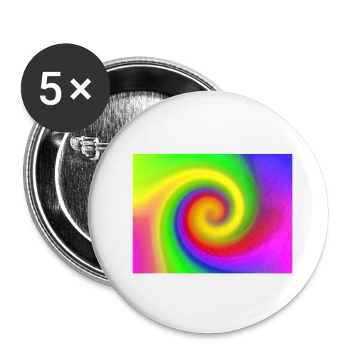 color swirl - Buttons large 2.2'' (5-pack)