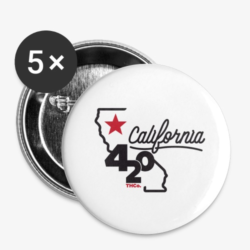 California 420 - Buttons large 2.2'' (5-pack)