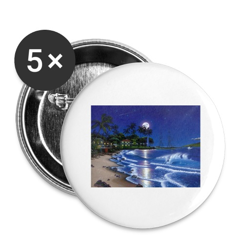full moon - Buttons large 2.2'' (5-pack)