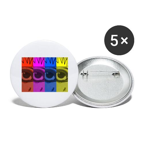 Eye Queen - Buttons large 2.2'' (5-pack)