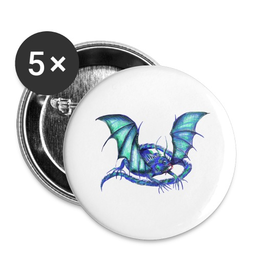 lizard dragon - Buttons large 2.2'' (5-pack)