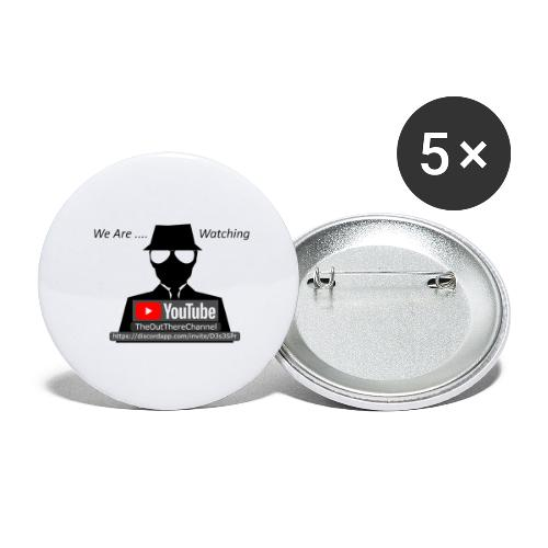 MibTheOutThereChannel v2 2019 Transparent - Buttons large 2.2'' (5-pack)